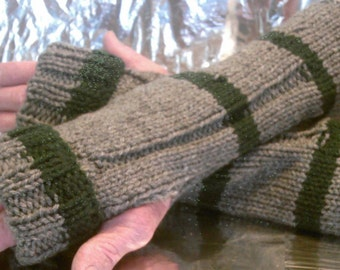 Slytherin Inspired Wrist Warmers