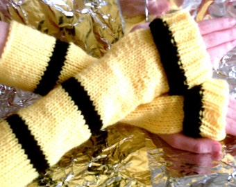 Hufflepuff Inspired Wrist Warmers - Custom Order