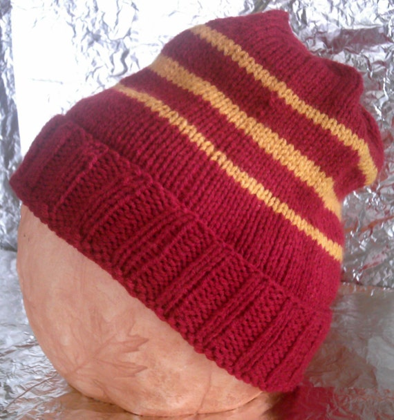 Gryffindor Inspired Hand Knitted Cap