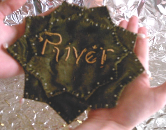 Dr Who Inspired River Song Prayer Leaf