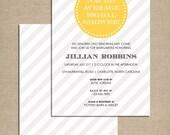 bridal shower invitation . bright and modern