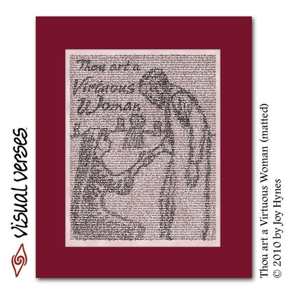 Thou art a Virtuous Woman (matted)