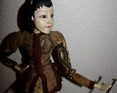 Vintage Wayang Golek Javanese Rod Shadow Puppet Woman