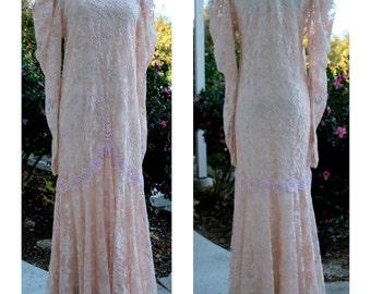 Vintage Susan Lunenfeld Victorian Style Lace Gown by Susan Inc. Philadelphia