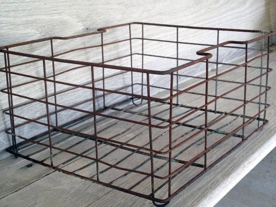 RESERVED Vintage Metal Crate - Industrial