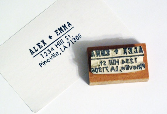 Personalized Address Stamp, Rectangle, Rubber Stamp
