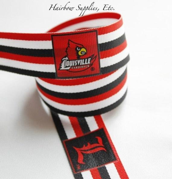 University Of Louisville Cardinals Grosgrain Ribbon 1 Inch 1