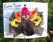 Thanksgiving Gobble Gobble Hair Bow