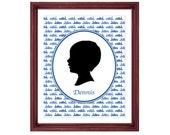 Silhouette Portrait From YOUR Photo - Printable PDF - 8x10 or 11x14 inches