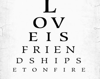 Custom Eye Chart, Personalized Eye chart - For Him - Last Minute Gift - Customized with your Names and Wedding Date – DIGITAL PRINTABLE JPEG