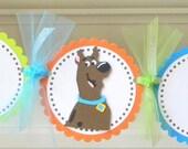 handmade SCOOBY DOO happy birthday party banner