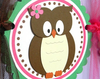 Owl Woodland Happy Birthday Party Banner