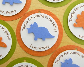 Dinosaur Birthday Party Favor Tags