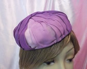 Purple organza vintage hat