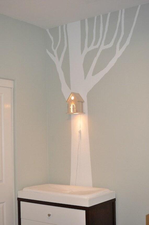 Peek-a-Boo Modern Birdhouse Lamp for Baby Nursery
