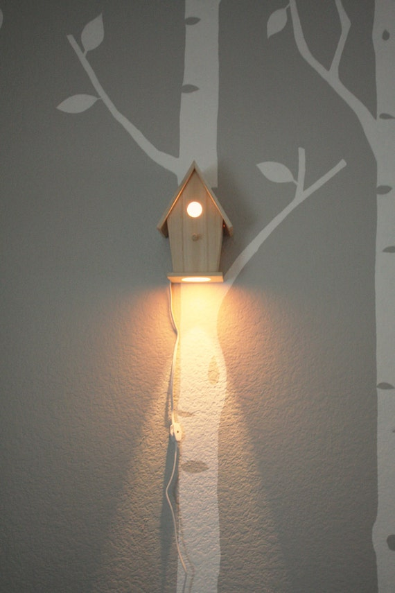 Wall Lamps Baby Room : Avery Wall Hanging Birdhouse Lamp Modern Baby Nursery