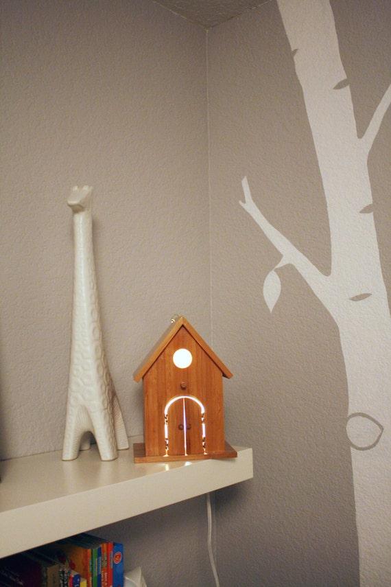 Avery Wall Hanging Birdhouse Lamp : Items similar to FREE SHIPPING Modern Birdhouse Lamp - Peek- a- Boo Nursery Decor Tree Decal ...