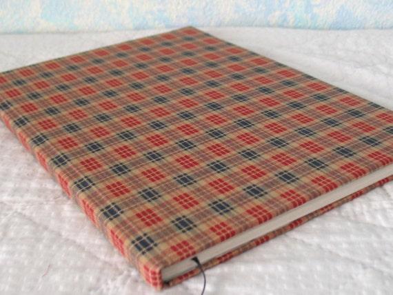 Handbound hardcover journal, plaid, deer, 80 sheet, college rule