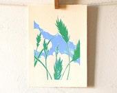 Wheat Fields Linocut