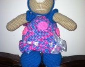 Handmade Crochet Teddy Bear Backpack