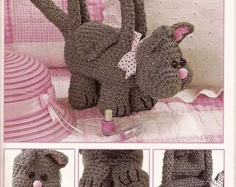 Amigurumi Handmade Crochet Cat Purse