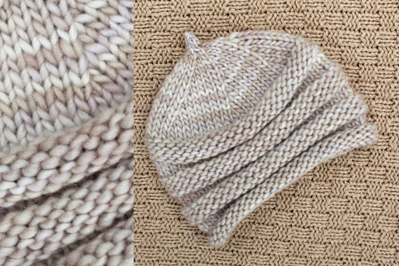 NEWBORN ACCORDIAN hat - photography prop - shades of pale tan and taupe