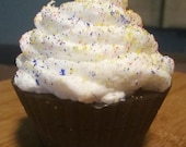 4 oz Birthday Chocolate Cupcake Soap with Shea Butter Frosting