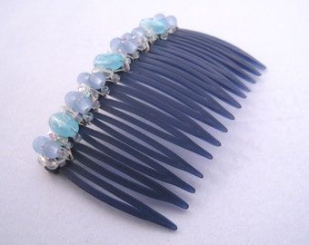 Beaded Hair Comb -Something Blue - LARIMAR