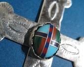 Vintage Sterling Silver CROSS - Pendant