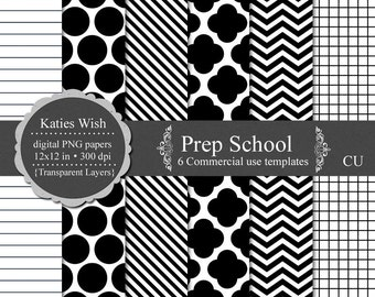 Prep School Digital Kit Commercial Use PNG Overlay Templates Instant Download