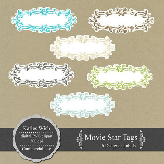 PNG clipart Tags Digital Journaling Labels PNG labels for scrapbooking, journaling, invites Movie Star