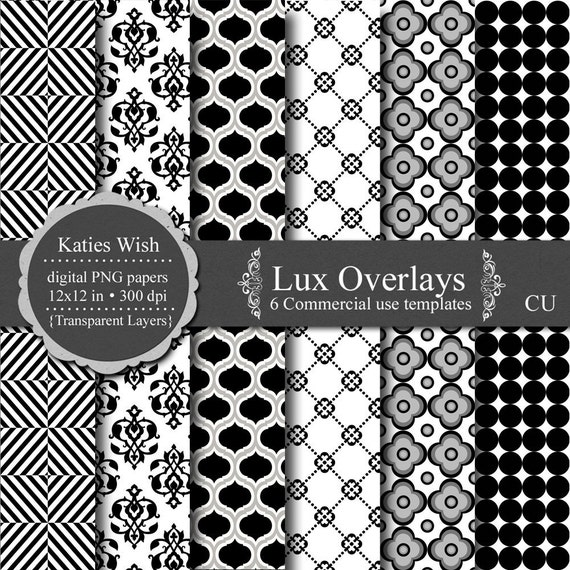 Lux overlays digital template kit commercial use png, psd, jpg  instant download file