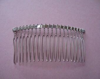 15 Metal Hair Combs, Premium - 39x75mm(20 teeth)