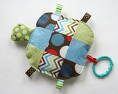 Wallace the Patchwork Turtle, Crinkle Toy, Baby Toy, Baby Boy Gift