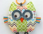 Rupert the Patchwork Owl, Baby Toy, Crinkle Toy, Crinkle Owl, Great Unisex Baby Gift