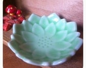 Lotus, Tiny ring bowl, Lotus flower bowl, small dish, mint