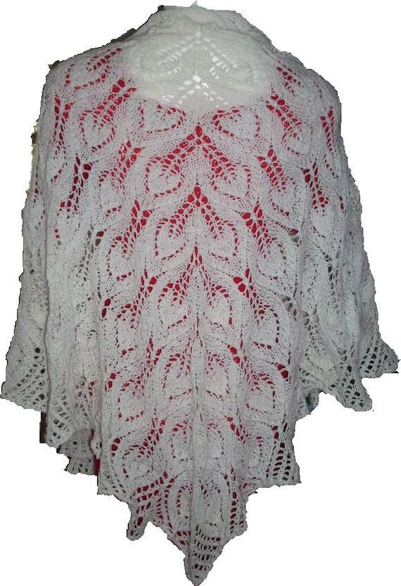 SALE White Innocence triangle shawl wedding,bridal