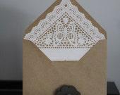 Custom Listing for Bambiluna - Lace lined envelopes