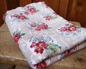 Vintage 50's Floral Barkcloth