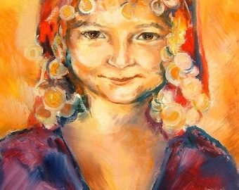 Little Gipsy - art print 8 x 10 inches - Coupon Code - SPREADTHELOVE- 10 % OFF -