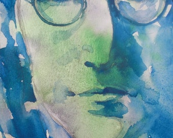 John Lennon - PRINT - comes with a 2nd FREE Print
