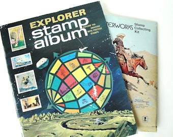 1969 Stamp Album and Collectors Kit, Stamp Collector Vintage