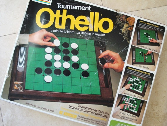 Vintage Othello Board Game Toy, Tournament Edition, Gabriel
