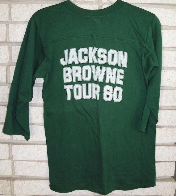 Jackson Browne Hold Out Tour Concert T Shirt 1980, No Nukes Benefit shirt