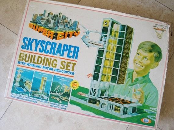 Super City Skyscraper Building Set Vintage 1968  Ideal Motorific