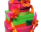 Tropical Wedding Gift Card Box, money box, money holder, Wishing Well