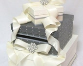 """Wedding Card Box with pearls and brooch as featured in """"201 Bride Magazine"""" Wishing Well, money holder, card box"""
