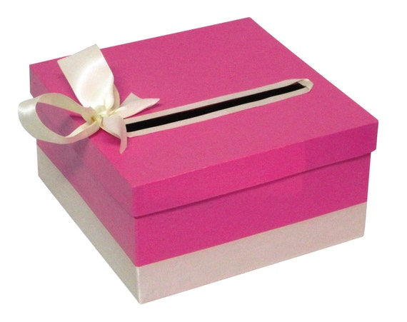 Card Gift Box Wedding: Simple Wedding Gift Card Box With Petite Bow By CardBoxDiva