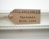 Product Tags Handmade With Love Tags Product Tags Gift Tags Hand Stamped