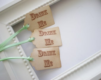 Drink Me Tags Alice In Wonderland Wedding Favor Tags, Set Of 12